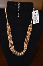 "Cookie Lee  / Vivi  Sliding Bronze Necklace 15-18"" Necklace Adjustable  NWT  NOS"