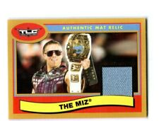 WWE The Miz 2018 Topps Heritage Gold Event Used TLC Mat Relic Card SN 1 of 10