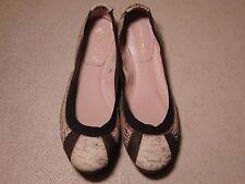 Escada Italy Flat Embossed Leather Slip-On Ballerina Shoes Grey size 40 US 9