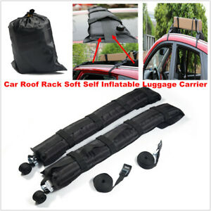 Universal Car Roof Rack Soft Self Inflatable Luggage Carrier + Rope Metal Buckle