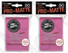 100 Ultra Pro Deck Protector Card Sleeves Pro Matte Bright Pink Standard Magic