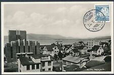 1936 Iceland Real Picture Postcard Cover Reykjavik City View