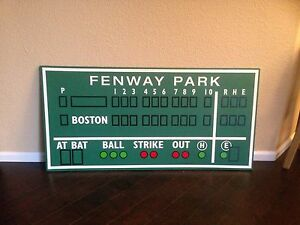 Boston decor, Fenway Park, Green Monster scoreboard