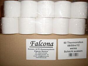Kassenrollen Thermo 58/50m/12  50 Stück BPA-frei  Multidata, Casio, Sharp,Sam4s