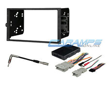 DOUBLE DIN CAR STEREO RADIO DASH KIT WITH BOSE & ONSTAR INTERFACE WIRE HARNESS