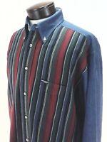 FACONNABLE Jeans Albert Goldberg Denim Shirt Vintage 90's Striped Men's M RARE