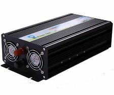 Car Power Inverter 1000W 12V/24V DC to 120/240V AC Pure Sine Wave Solar Inverter
