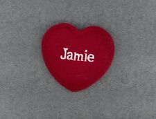 JAMIE Red Felt Heart Ornament Valentine's Day + Christmas + Crafts + Gift Tag