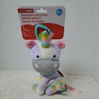Skip Hop Bandana Buddies Unicorn Plush Animal Baby Activity Toy Teether Rattle