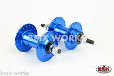 Old School BMX High Flange Blue Alloy 36 Hole Hubs Mongoose Redline BMX Works