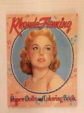 VINTAGE Paper Doll - Rhonda Fleming - Saalfield