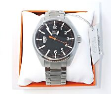 New ESQ Movado 07301425 Catalyst Men's Black Dial Stainless Steel Watch