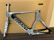 NEW 2014 GIANT TRINITY COMPOSITE FRAME, FORK AND SEATPOST SMALL GRAY/BLACK/WHITE