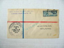 Airmail U.S. First Flight Cover / 1926 Atlanta Miami Route / Atlanta TO: Tampa