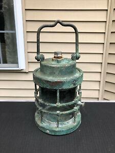 Antique Brass Industrial Maritime Ship Lantern Light 9-S-2108-L