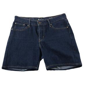 Levis Women's Blue Denim Shorts Size W29 Demi Curve Classic Rise Slim - FreePost