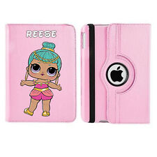 LOL Doll 05 Name Personalised iPad 360 Rotating Case Cover Birthday Present Gift