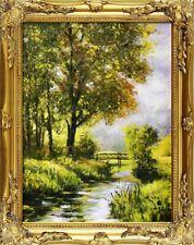 Gemälde Natur Herbst Wald Handarbeit Ölbild Bild Ölbilder Rahmen Bilder G15891