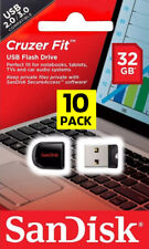 10 PACK - OEM SanDisk 32GB Cruzer Fit Mini Micro Pen Drive Flash SD USB 2.0