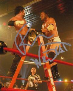 RAVEN & WILDCAT CHRIS HARRIS SIGNED 8x10 WRESTLING PHOTO WWF-WWE-AEW-TNA-ECW