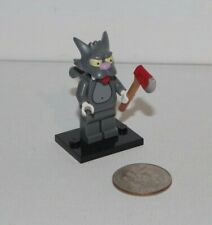 Authentic LEGO Scratchy Cat Minifigure w/ Axe - 71005 The Simpsons Series 1 EUC