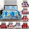 3D Brushed Duvet Quilt Cover Bedding Set With Pillow Cases Single Double King
