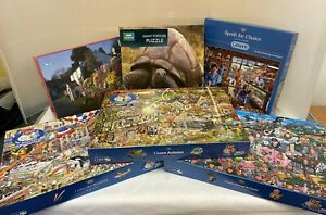 Small Lot of 6 Unchecked Jigsaws Each with 1000 Pieces (D5)