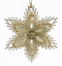 Gold Silver 3D Star Christmas Ornament Holiday Decoration