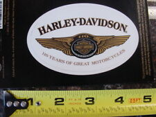 HARLEY DAVIDSON*110TH ANNIVERSARY*FOUR (4) INCH DECAL*BRAND NEW