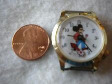 Vintage Mickey Swiss Made Wind Up Watch with flower second hand working.t-2