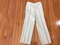 VALENTINO BOUTIQUE Women's  Baby blue Striped Pants 28 Inch Waist Wide Leg (T7-2