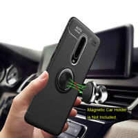 For OnePlus 6 6T 7 Pro Shockproof Rugged TPU Ring Holder Armor Case Phone Cover