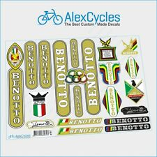 Rare Vintage Benotto Olympic Campagnolo Restoration Decals Kit + Gift Stickers