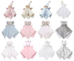Newborn Baby Teddy Lamb Comforter Elephant Unicorn Soft Toy Snuggle Blanket Gift