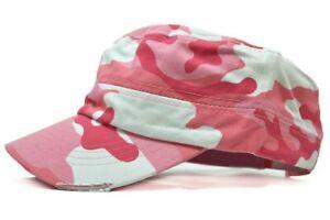 Cadet Hat Army Castro Baseball Cap Military Distressed Cotton Vintage Camo Hats
