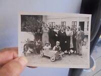 Ancienne Photographie Famille Voiture à Pédales Tacot Genre MG ou Eureka