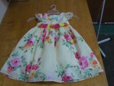 Laura Ashley Swiss-Dot Floral Chiffon Dress-Size-5