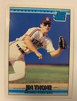 JIM THOME 1992 Donruss RATED ROOKIE Card RC INDIANS # 406 Hall Of Fame