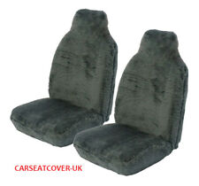 Vauxhall VXR8 (2011-) Panther Grey Faux Fur Car Seat Covers - 2 x Fronts