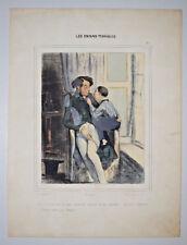 Lanternes PAUL GAVARNI LITHOGRAPHIE COULEURS Enfants Terribles Gravure IN4 1840