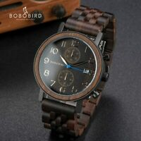 Relogio Masculino BOBO BIRD Wooden Men Watch Top Luxury Brand Japanese Movement
