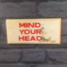 Mind Your Head - Plaque / Sign / Gift - Socks Off Duck Notice Work Office 405
