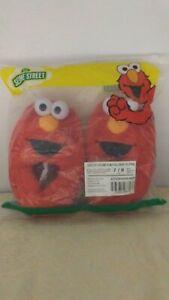 123 Sesame Street Toddler Elmo Slipper Unisex Size 7/8 T