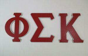Breting Designs Greek Letters Phi Sigma Kappa Dorm Room Door Wall Shelf Office