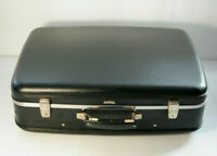 Vintage Suitcase Antler Black Leather Large Luggage Travel Case Decor Prop
