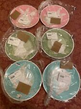 Pottery Barn Kids Easter Plates Set of 6 Bunny Bumblebee Butterfly Daisy Spring