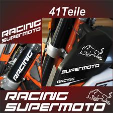 41Teile Bullen Supermoto Racing Aufkleber Motorradaufkleber passt für KTM 690 F