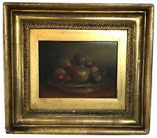 Antique Still Life Painting of Fruit British Mid-19th Century
