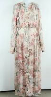 MASSIMO DUTTI NEW Multicolored Floral Button Up Women Maxi Dress Size 38 EU S/M