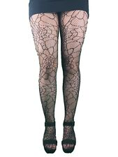 LADIES HALLOWEEN TIGHTS COBWEB SPOOKY WITCH FANCY DRESS PARTY HOSIERY SPIDER